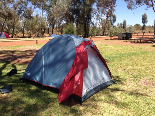 Tent at Ayers Rock Campground