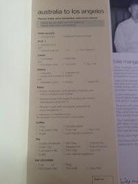 Breakfast order menu