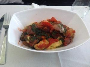 Mediterranean vegetables with polenta.